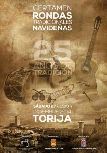 Cartel oficial del Certamen de Rondas Tradicionales Navideñas de Torija
