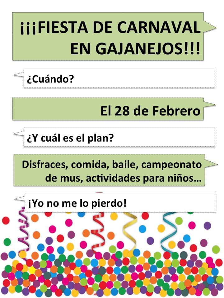 Carnaval Gajanejos 2015: primeras noticias