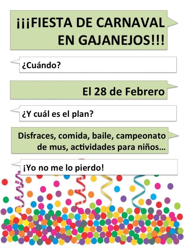 Carnaval Gajanejos 2015: primerasnoticias