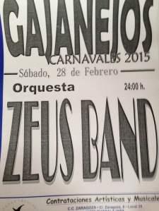 Cartel música Carnaval de Gajanejos