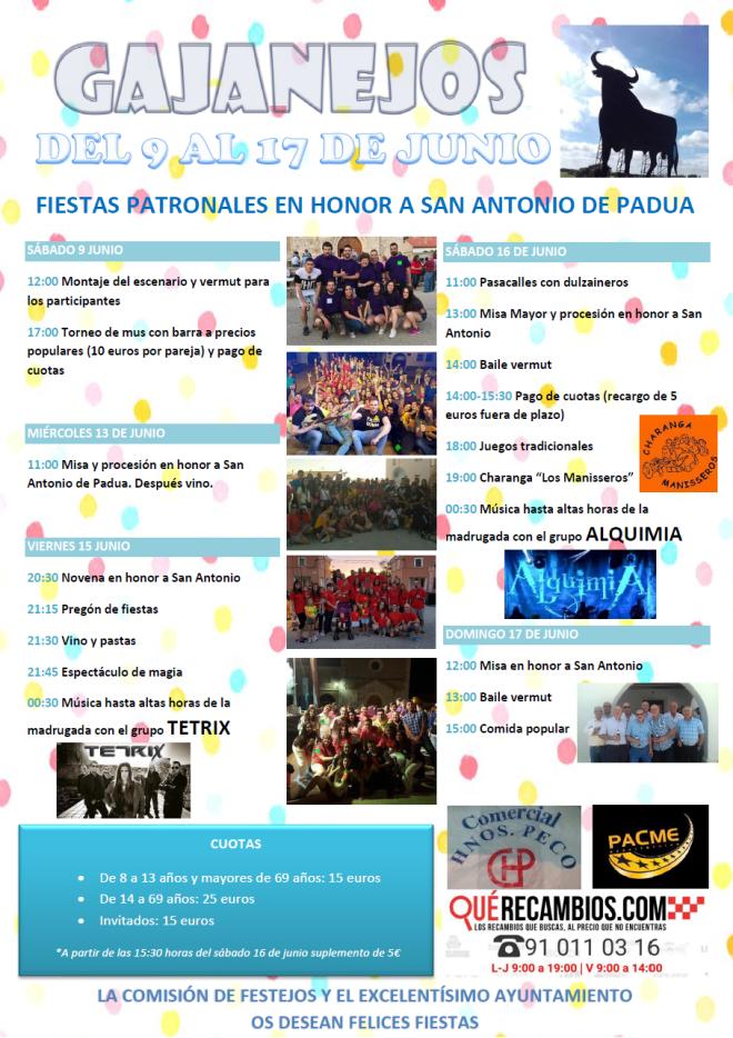cartel fiestas san antonio gajanejos 2018